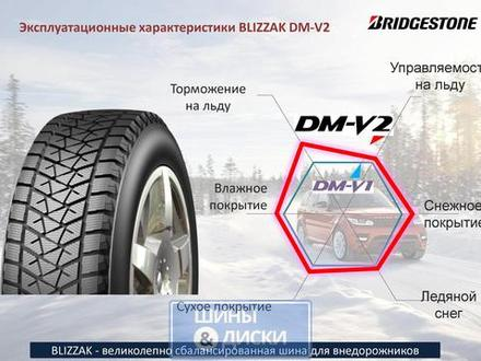 Bridgestone Blizzak DM-v2 285/45 r22 110t за 100 500 тг. в Петропавловск